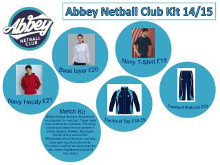 Abbey Netball Club Kit 14/15