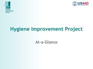 Hygiene Improvement Project