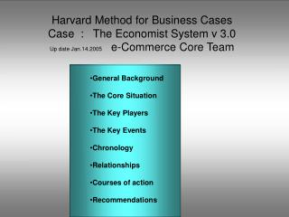 General Background  The Core Situation The Key Players The Key Events Chronology Relationships