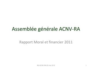 Assemblée générale ACNV-RA