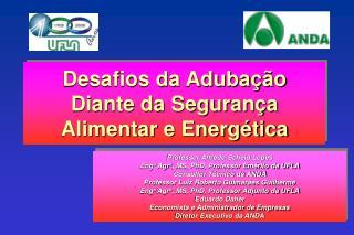 Professor Alfredo Scheid Lopes Eng o  Agr o , MS, PhD, Professor Emérito da UFLA