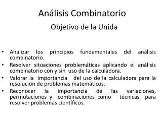 An�lisis Combinatorio