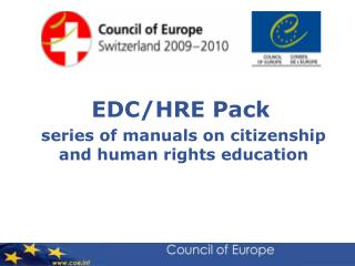 EDC/HRE Pack series of manuals on citizenship and human rights education