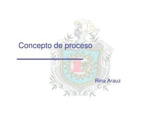 Concepto de proceso