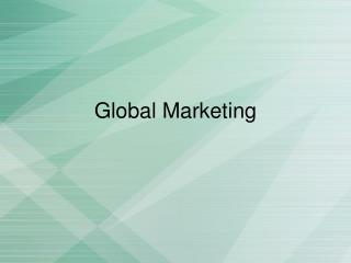 Glob al  Marketing