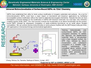 Genetically Engineered Materials Science & Engineering Center