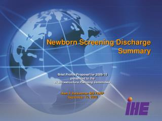 Newborn Screening Discharge Summary