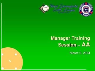 Manager Training Session –  AA