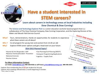 Have a student interested in STEM careers?