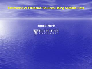 Estimation of Emission Sources Using Satellite Data