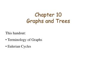Chapter 10 Graphs and Trees