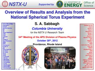 Overview of Results and Analysis  from the National Spherical Torus Experiment