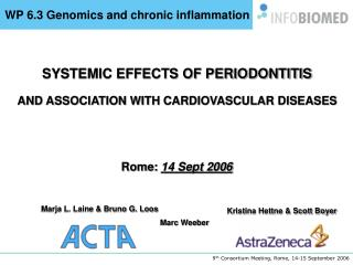 WP 6.3 Genomics and chronic inflammation