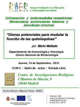 """""""Dianas potenciales para modular la función de las quimioquinas"""""""