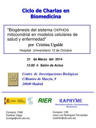 """"""" Biogénesis del sistema  OXPHOS  mitocondrial en modelos celulares de salud y enfermedad"""""""