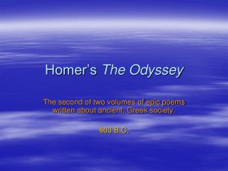 Homer�s  The Odyssey