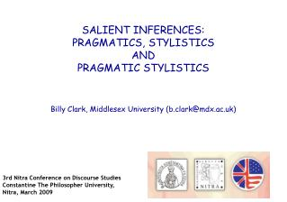 Billy Clark, Middlesex University b.clarkmdx.ac.uk