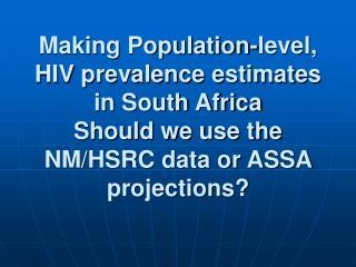 Antenatal HIV prevalence data