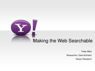 Making the Web Searchable