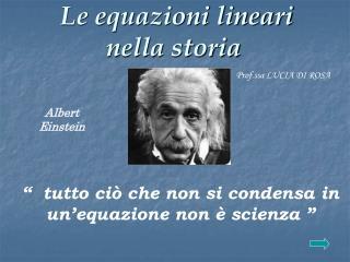Le equazioni lineari   nella storia