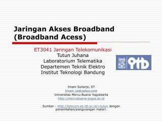 Jaringan Akses Broadband (Broadband Acess)