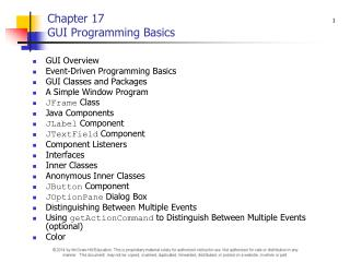 Chapter 17 GUI Programming Basics