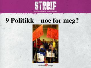 9 Politikk –  noe for meg?