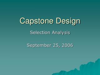 Capstone Design