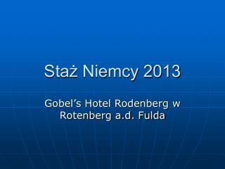 Staż Niemcy 2013