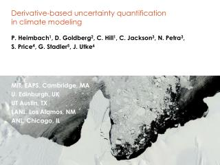 Derivative-based uncertainty quantification  in  climate modeling