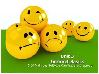 Unit 3             Internet Basics