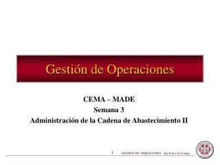 Gesti n de Operaciones