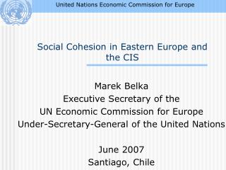 Social Cohesion in Eastern Europe and the CIS
