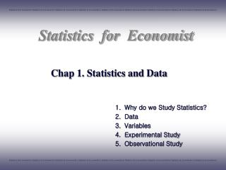 Chap 1. Statistics and Data