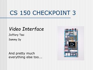 CS 150 CHECKPOINT 3