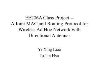 Yi-Ying Liao Ju-lan Hsu