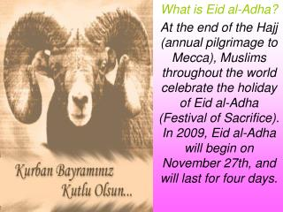 What is Eid al-Adha?