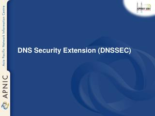 DNS Security Extension (DNSSEC)