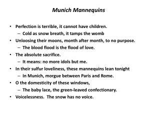 Munich Mannequins