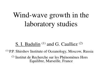 Wind-wave growth in the laboratory studies