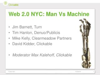Web 2.0 NYC: Man Vs Machine