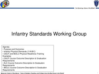 Infantry Standards Working Group