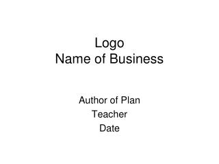 Logo Name of Business