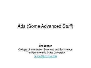 Ads (Some Advanced Stuff)