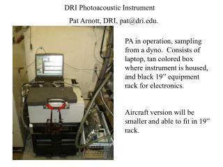DRI Photoacoustic Instrument