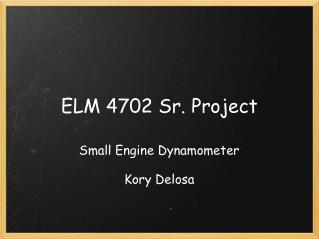 ELM 4702 Sr. Project