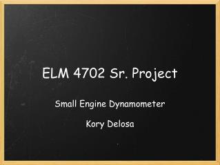 ELM 4702 Sr. Project