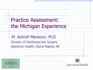 Practice Assessment: the Michigan Experience