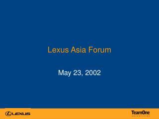 Lexus Asia Forum