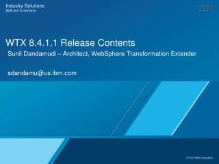 WTX 8.4.1.1 Release Contents